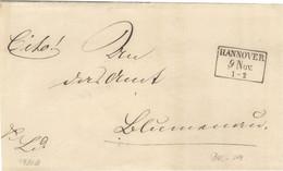 Dienstbrief Von Hannover Nach Blumenau Kastenstempel Hannover Um 1849/52 - Hannover