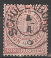 Norddeutscher Postbezirk 16 O Nachverw. Hannover-Stempel Schulenburg - Conf. De L' All. Du Nord