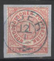 Norddeutscher Postbezirk 16 O Briefstück Nachverw. Hannover-Stempel Buer - Conf. De L' All. Du Nord