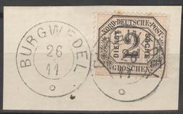 Norddeutscher Postbezirk Dienst 5 O Briefstück Nachverw. Hannover-Stempel Burgwedel - Conf. De L' All. Du Nord