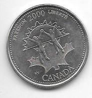 *canada 25 Cents 2000 Km 374 Unc - Canada