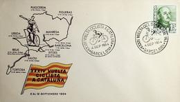 1954 España Matasello XXXIV Vuelta Ciclista A Cataluña - Ciclismo