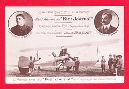 """Aviation-628Ph116  Campagne Du Maroc, Aéroplane Du """"petit Journal"""", Sapeur H. BREGI, René LEBAUT, - ....-1914: Precursors"""