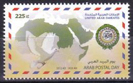 United Arab Emirates - 2012 - ( Arab Postal Day - Arab Post Day - Poste Arab ) - MNH (**) - Emiratos Árabes Unidos