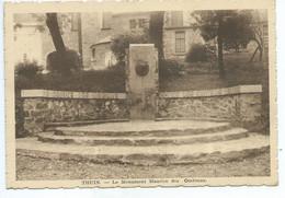 Thuin Monument Maurice Des Ombiaux ( Décollé D'un Album Voir Trace Au Dos !!! ) - Thuin