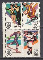 USA 1984 - Winter Olympic Games, Sarajevo, (4 X 20 C.), MNH** - Vereinigte Staaten