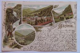 Bad Gastein 308 Salzburg 1894 Wildbad Gastein Litho Waterfall Valley Panorama Elizsabethhof - Bad Gastein