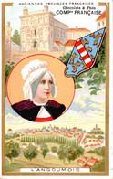Vers 1900 Chocolats Et Thés Compagnie Française : Belle Illustration L'ANGOUMOIS Anciennes Provinces - Non Classés