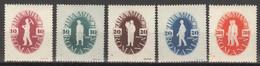 Rumänien 987/91 ** Postfrisch - 1918-1948 Ferdinand, Charles II & Michael