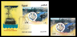 Egypt - 2013 - S/S & FDC - ( The Day Of The Nile Inundation ) - MNH (**) - Egyptology