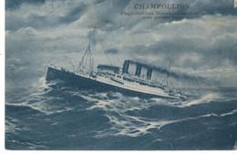 MESSAGERIES MARITIMES PAQUEBOT CHAMPOLLION - Dampfer