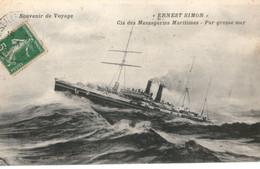 Messageries Maritimes Paquebot ERNEST SIMON PAR GROSSE MER - Piroscafi