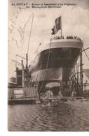 Messageries Maritimes Paquebot AVANT LANCEMENT  LA CIOTAT - Dampfer
