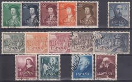ESPAÑA 1952 Nº 1106/1120 AÑO COMPLETO USADO,15 SELLOS (TODOS LOS SELLOS SON BIEN CENTRADOS) - Full Years