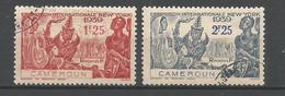 Timbre De Colonie Française Cameroun Oblitéré N 160/161 - Usati