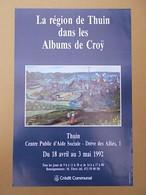 """Albums De Croy  Affiche De L' Exposition De Thuin   Sujet  """""""" Ville De Thuin  """""""" 1992 - België"""