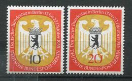 19864 ALLEMAGNE Berlin N°114/5** Session Du Bundestag à Berlin  1955  TB/TTB - Neufs