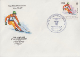 Enveloppe  FDC  1er  Jour   MADAGASCAR      Jeux   Olympiques   SARAJEVO   1984 - Winter 1984: Sarajevo