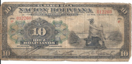 BOLIVIE 10 BOLIVIANOS 1911 VG P 107 B - Bolivia