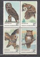 USA 1978 - Night Birds, Set Of 4 Stamps, MNH** - Estados Unidos