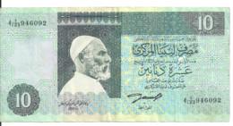 LIBYE 10 DINARS ND1991 VF P 61 A - Libya