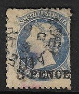 SOUTH AUSTRALIA 1872 3d On 4d DEEP ULTRAMARINE SG 68 FINE USED - Usados