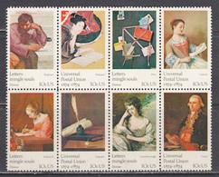 USA 1974 - 100 Years UPU: Paintings, Strip Of 8 Stamps, MNH** - Estados Unidos