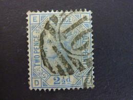 GRANDE BRETAGNE, Année 1875, YT N° 57 Pl.20 Oblitéré, (cote 40 EUR) - Gebruikt