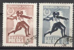 Polen 864/65 O Spatakiade - Gebraucht