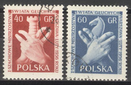 Polen 954/55 O Schach - Gebraucht