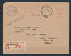 DS-460: FRANCE: POCHE DE ST NAZAIRE Courrier Rec Du 6/3/45  'empreinte De Machine (La Baule) (rouge) - Guerres