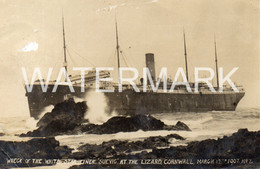 WRECK OF SS SUEVIG AT THE LIZARD OLD R/P POSTCARD CORNWALL 17-03-07 - Dampfer