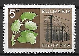 BULGARIE    -    1967 .  Economie Nationale,  Y&T N°1522 Oblitéré.   Houblon /  Bière - Usati