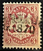BAYERN 1870 - Canceled - Mi 23Y - 3kr - Beieren
