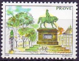 Denemarken 1985 Testzegel PF-MNH - Probe- Und Nachdrucke