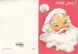 CPA CELEBRATIONS, CHRISTMAS, SANTA CLAUS, 2 PARTS FOLDED - Santa Claus