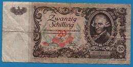 AUSTRIA 20 Shilling    02.01.1950  P# 129a Joseph Haydn - Oesterreich