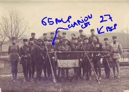 Armée Française 65° Et 27 ° BCP Chasseurs à Pied Drapeau Commandant Clarion - Guerra, Militari