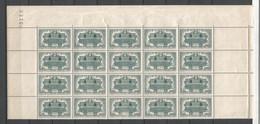FRANCE ANNEE 1944 N°609 (1) BLOC DE 20 EX  NEUF** MNH TB COTE 20 € REMISE-90% - Nuovi