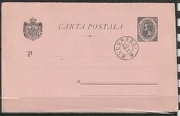 Roumanie Entier Postal 5 Bani Cachet Bucuresci 22 MAI 1891 - Interi Postali