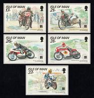 ISLE OF MAN 1991 Tourist Trophy Mountain Course: Set Of 5 Postcards MINT/UNUSED - Isla De Man