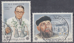 FINLANDIA 1980 Nº 831/832 USADO - Gebraucht