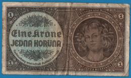 BOHEMIA & MORAVIA 1 Krone    ND (1940)  P# 3 Böhmen Und Mähren - Tschechoslowakei