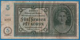 BOHEMIA & MORAVIA 5 Kronen Korun    ND (1940) # A.032  P# 4 Protektorát Čechy A Morava - Tschechoslowakei