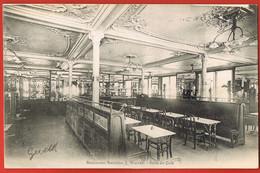 NANCY- Restaurant Stanislas J.WALTER - Salle Du Café- Cpa Circulée 1906- Scans Recto Verso - Nancy