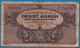 CZECHOSLOVAKIA    10 Korún    02.01.1927  # S.N 188 P# 20    Národná Banka Československá - Tschechoslowakei