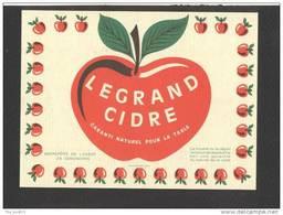 Etiquette De Cidre  -  Entrepôts De L'Ouest  à Senonches  (28) - Labels
