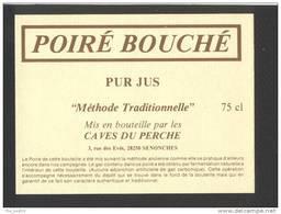 Etiquette De Cidre  De Poire (Poiré)   -   Bouché  -  Caves Du Perche à Senonches (28) - Labels