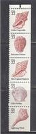 USA 1985 - Seashells, Strip Of 5 Stamps, MNH** - Vereinigte Staaten