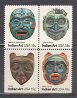 USA 1980 - Indian Art, Set Of 4 Stamps, MNH** - Estados Unidos